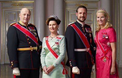 king harald the fifth, queen sonja, crown princess mette-marit and crown prince haakon