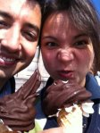 A and me with ice cream in August 2011