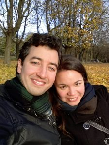 A and J in the park