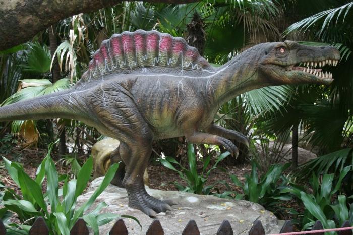 A dinosaur in Jurassic Park