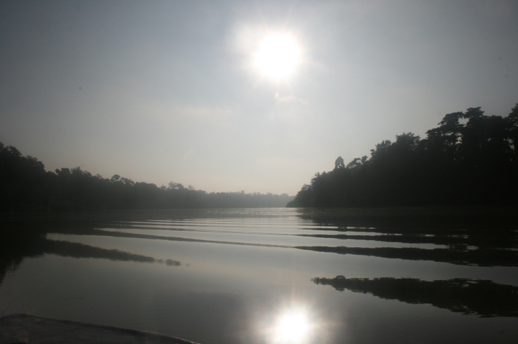 River in the morning hours