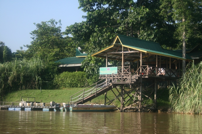 Lodge at kinabatangan river