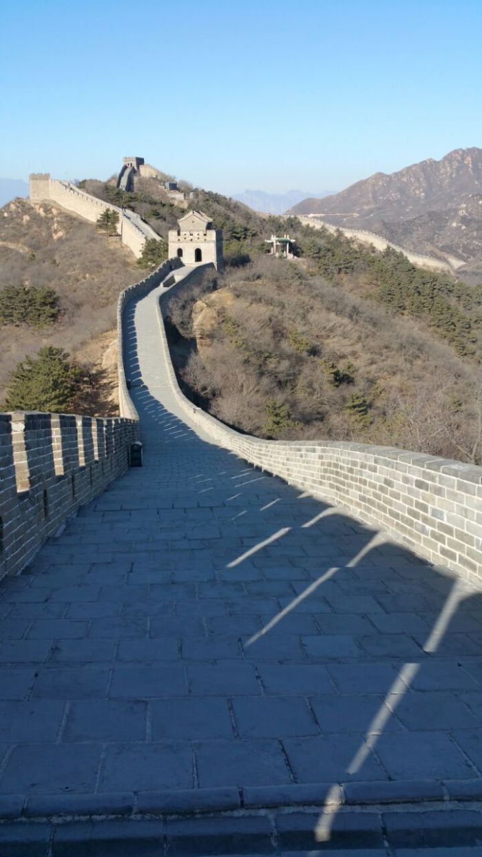The empty Wall of China