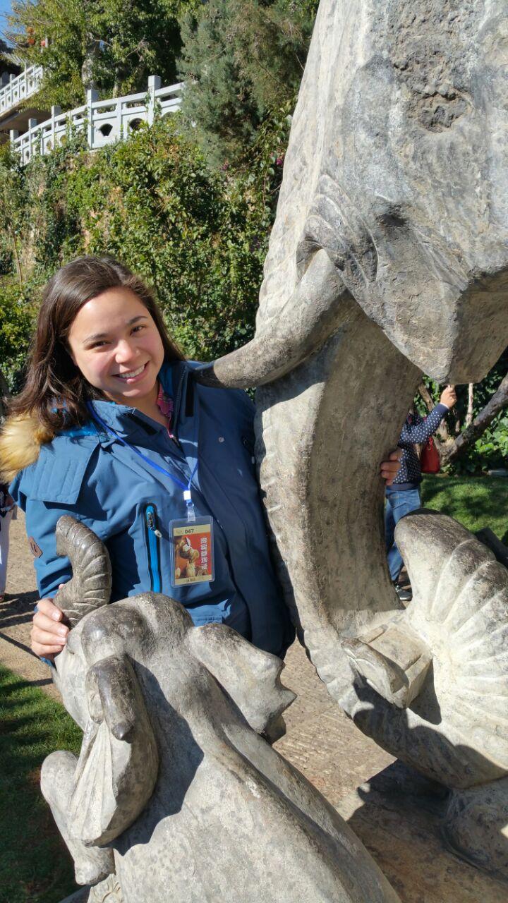 Me hugging an elephant