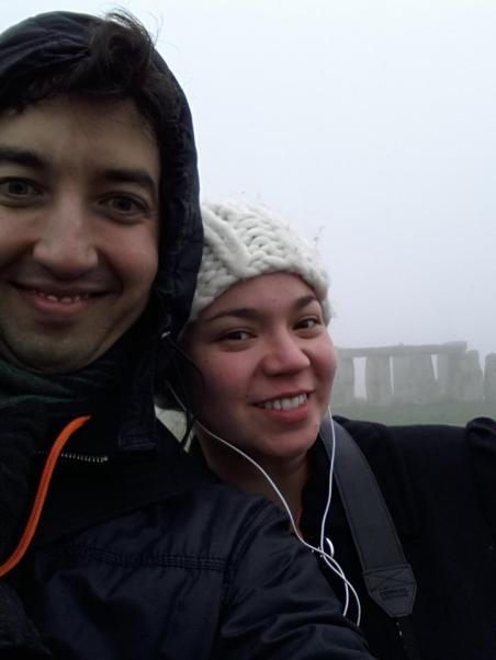 A and I at Stonehenge, November 2012