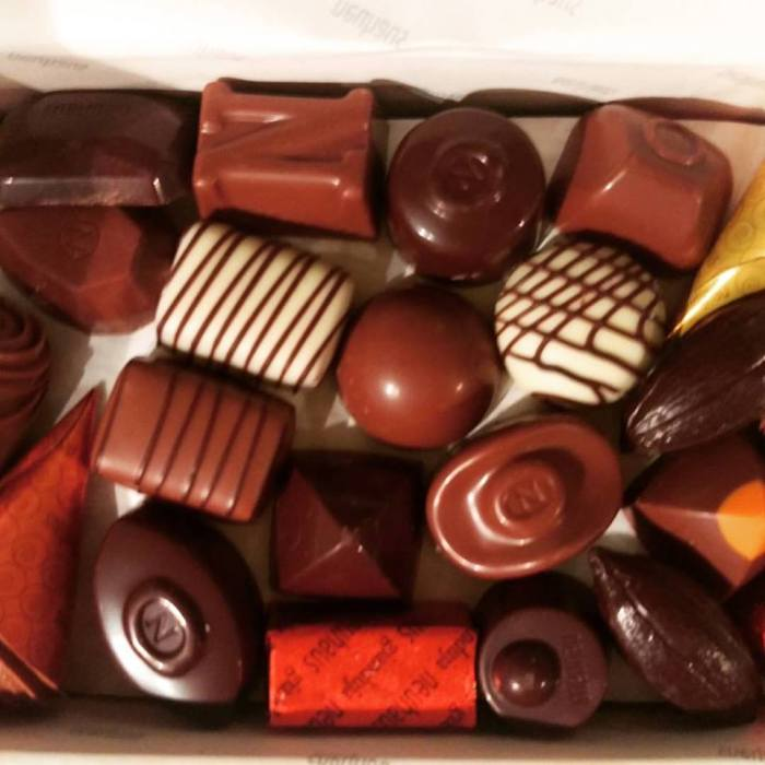 Neuhaus pralines for breakfast, Belgian pieces of heaven