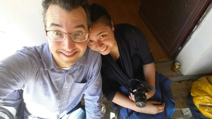 A and I on our honeymoon in China.