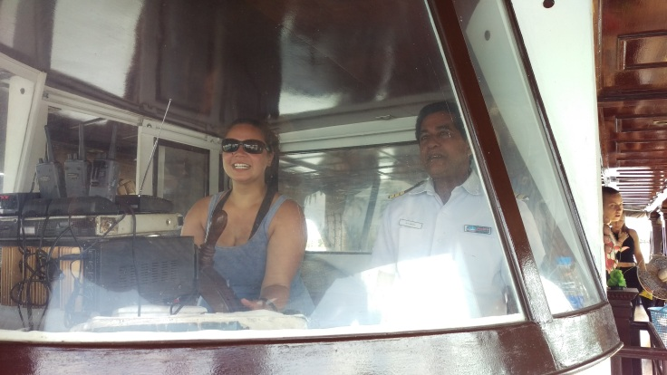 Taking the houseboat for a spin