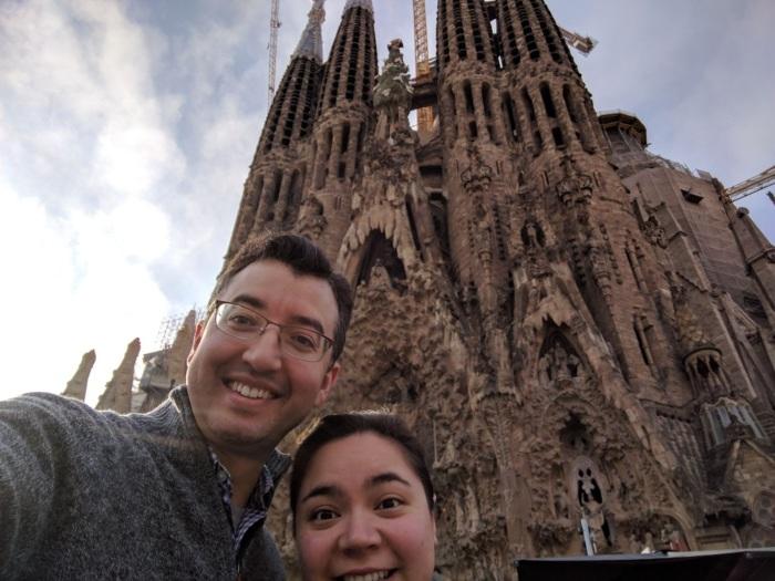 A and I at the La Sagrada Familia
