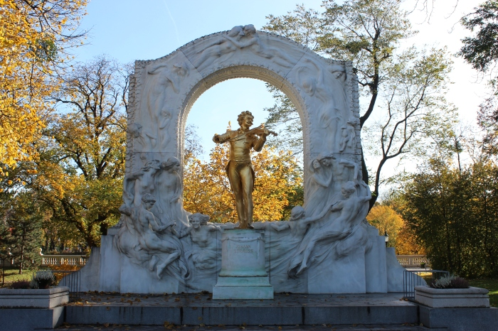 Johann Strauss Monument, courtesy wikipedia