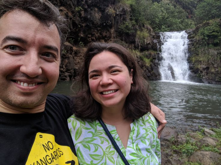 A and I at the Waimea Waterfalls