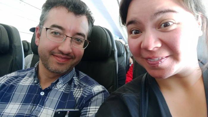 A and I moments ago from touching down in Sydney