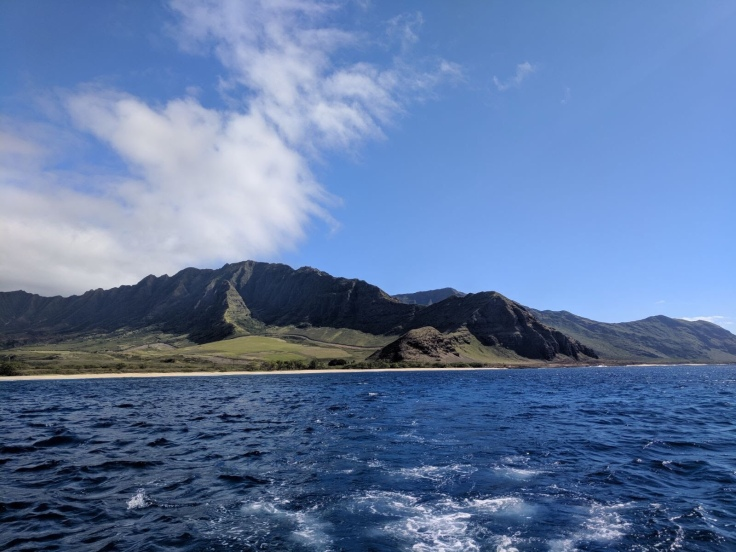 Oahu from the boat