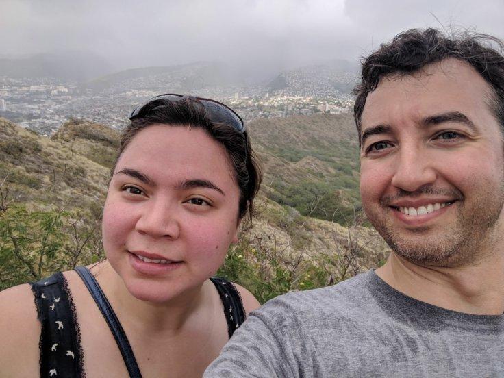 A and I at Diamond Head