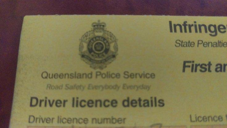 Australian infringement notice