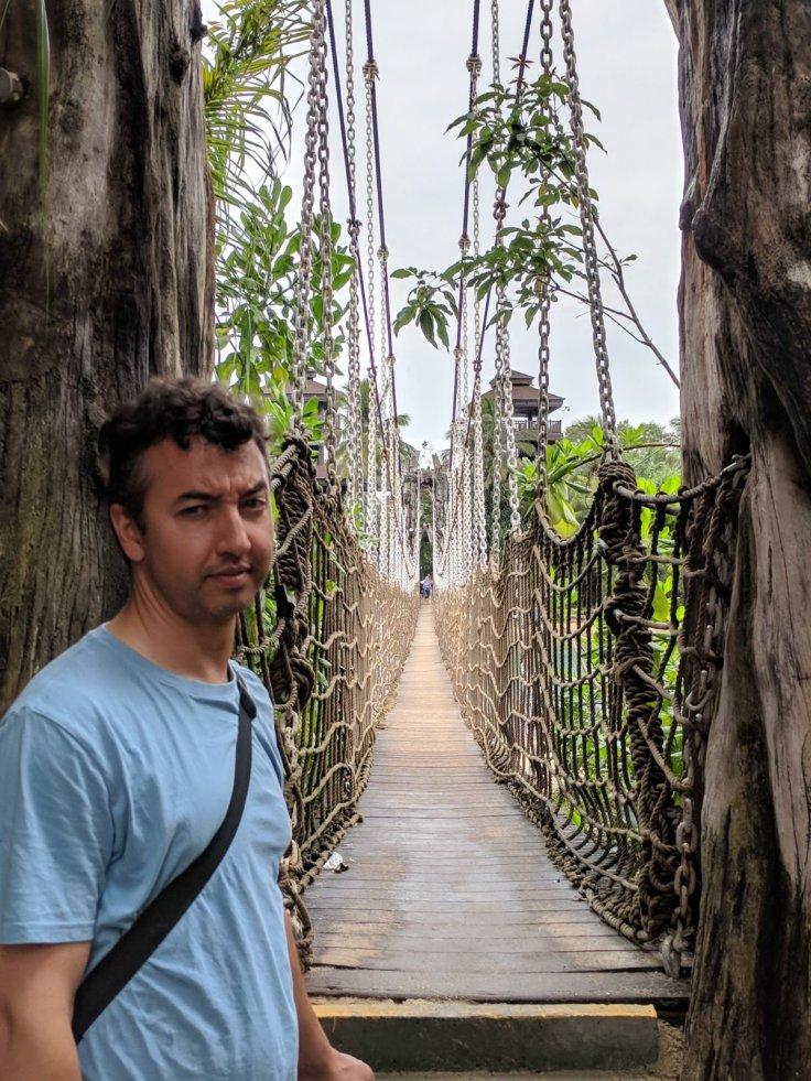 Santosa's hanging bridge