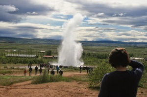 Me at a Geyser in Iceland