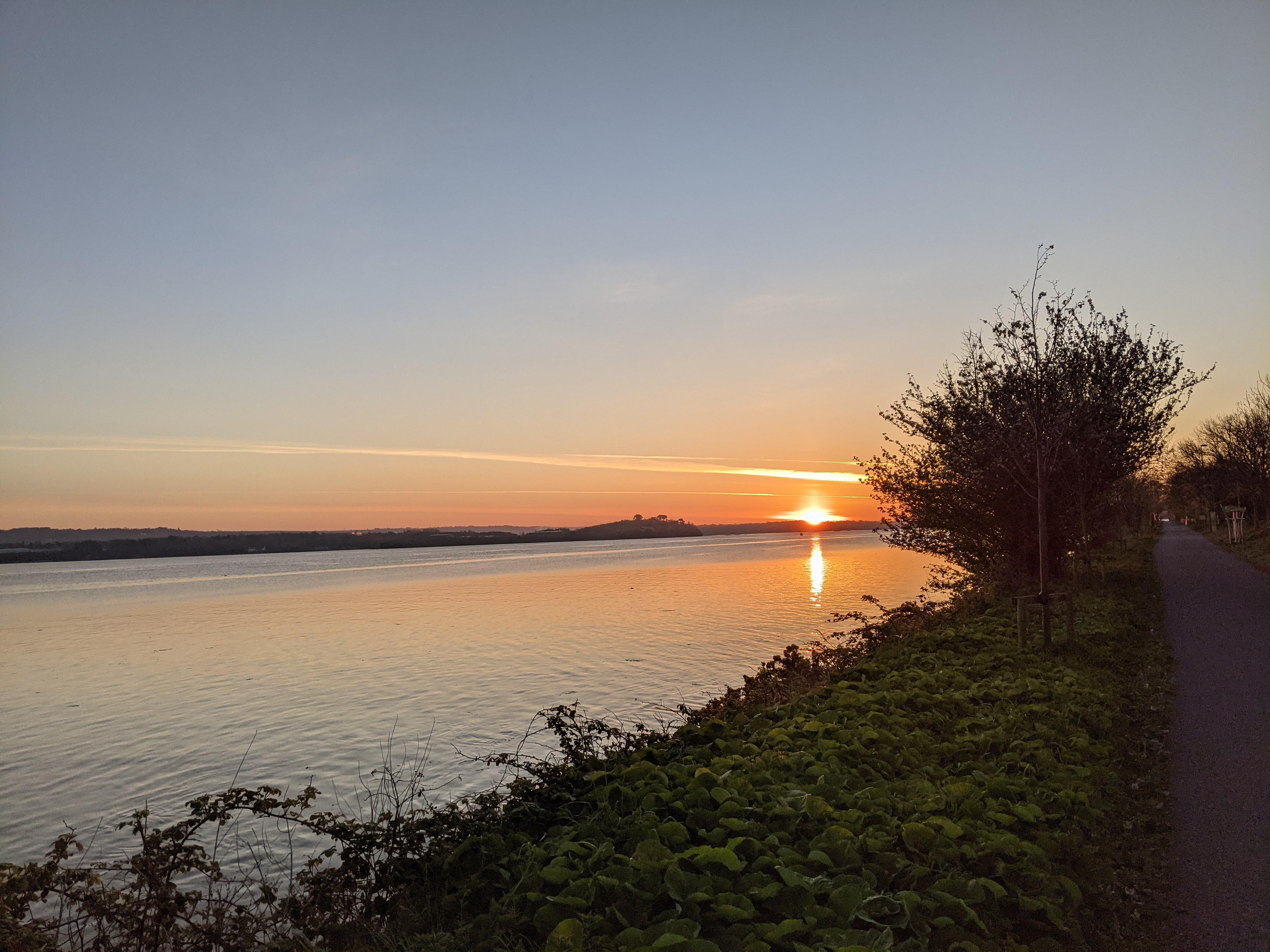 Sunrise seen from Hop Island, Cork